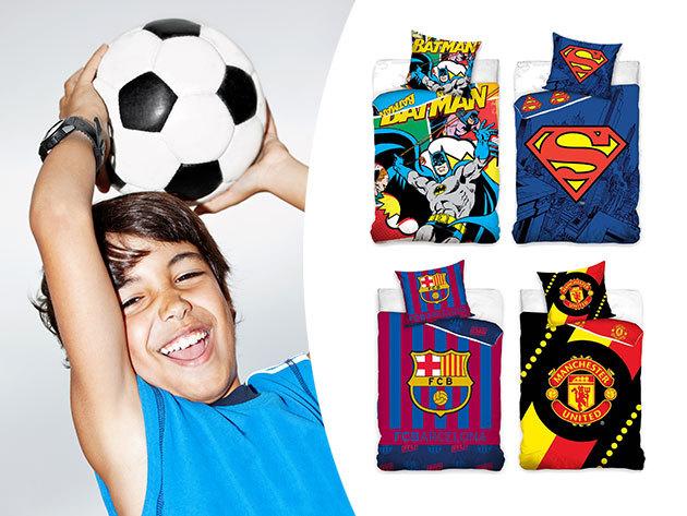 Ágyneműk szuperhősös és futball szurkolói mintákkal - Superman, Batman, Juventus, Barceolona, Real... stb.