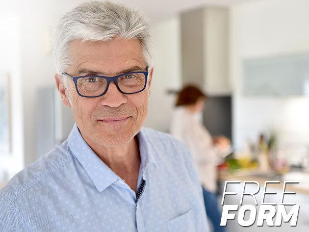 Komplett multifokális szemüveg új, Freeform technológiával készült progresszív lencsével, kiváló minőségű választható kerettel, 2 év réteggaranciával, a VIII. kerületi Totál Optikától