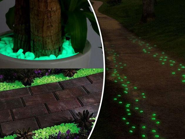 Világító dekorkavics - fluoreszkáló hangulatvilágítás az ünnepekre is: az erkélyre, kertbe, vagy a lakásba (40 db)