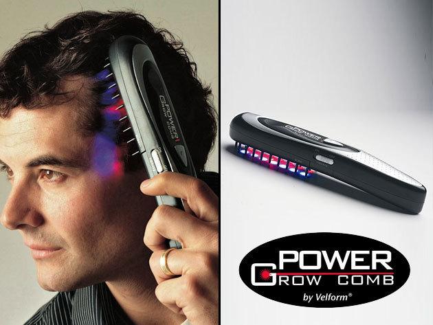 Hajnövesztő lézerfésű ajándék kiegészítőkkel, hajhullás ellen - Velform Power Grow Comb