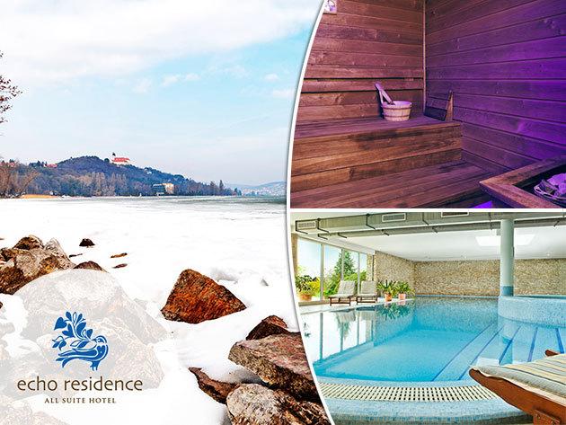 Tihany pihenés - téli relaxáló wellness az Echo Residence All Suite Hotelben - 3 nap/2 éj szállás 2 fő részére félpanzióval és wellnesszel + masszázskupon
