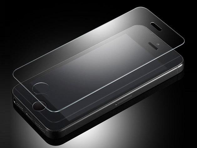 Üvegfólia iPhone 4/4S/5/5S/5C/6/6S/6plus/6Splus készülékekhez - kopás és karcálló, ujjlenyomatmentes, átlátható