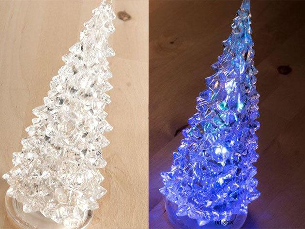 Karácsonyi díszvilágítás: 2 db mini karácsonyfa beépített LED-ekkel