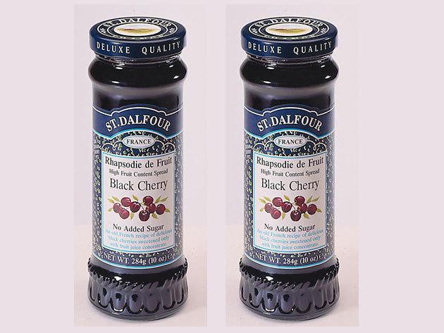 St. Dalfour lekvár Duo pack mutatós dobozban, porcelán kanálkával - fekete cseresznye