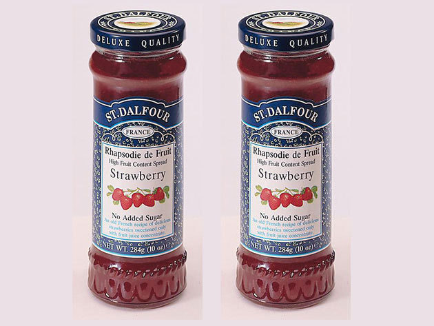 St. Dalfour lekvár Duo pack mutatós dobozban, porcelán kanálkával - eper