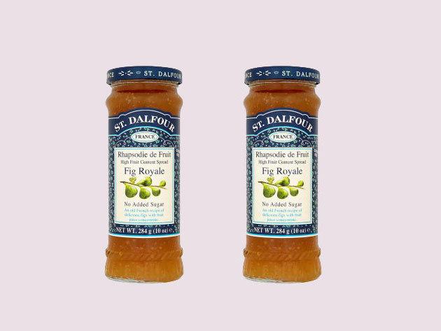 St. Dalfour lekvár Duo pack mutatós dobozban, porcelán kanálkával - füge