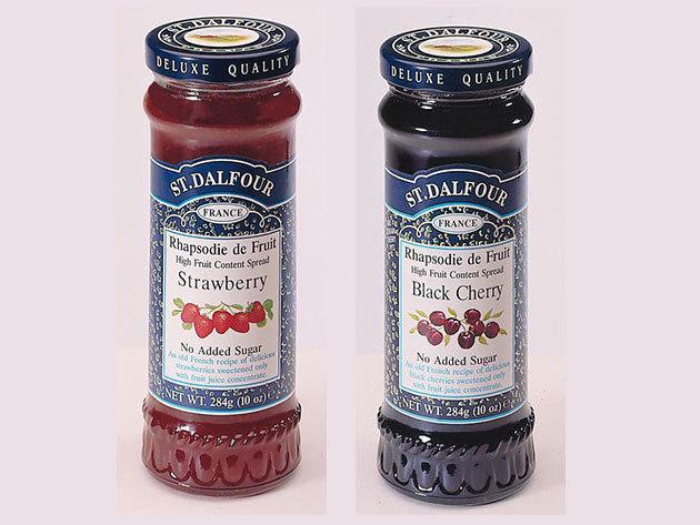St. Dalfour lekvár Duo pack mutatós dobozban, porcelán kanálkával - eper - fekete cseresznye