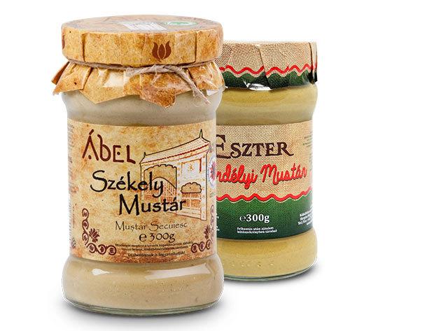 Székely és erdélyi kézműves mustárok - 2 x 300 g (1 db Ábel, 1 db Eszter)
