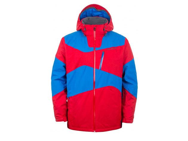 Columbia férfi síkabát Paralell Grid Jacket  (WM1039-n_692) - piros-kék - L