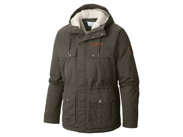 Columbia férfi utcai kabát  Meguire Place II Jacket  (WM4122-n_213) - khaky - L