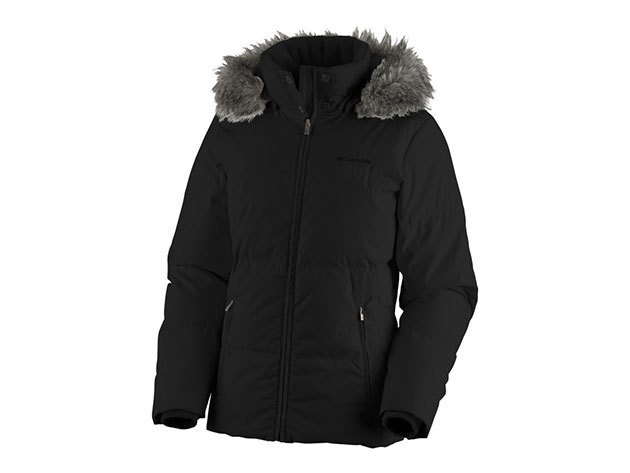 Columbia női utcai tollkabát Varaluck III Jacket  (WL5377-n_013) - fekete - XL