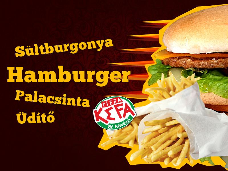 Hamisítatlan óriás retro hamburger, menüben, most 50% kedvezménnyel!