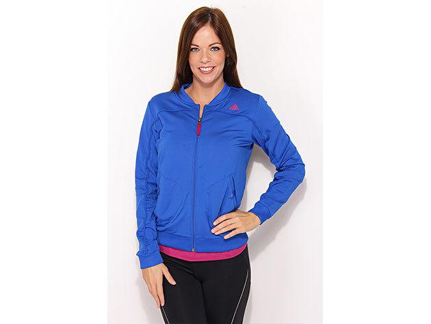 Adidas Tracktop K, női cipzáras pulóver  (O09244) - kék - 36