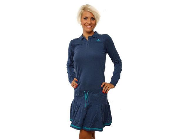 Adidas Cheerldr Dress, női hosszú újjú ruha  (O06299) - kék - 36