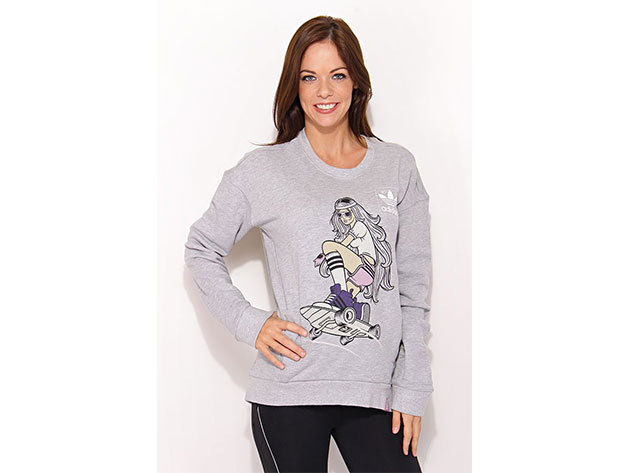 Adidas St Sweater, női feliratos pulóver  (O58349) - szürke - 36