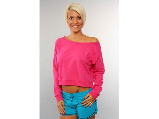 Adidas Crew Sweat, női pulóver  (V33593) - pink - 40