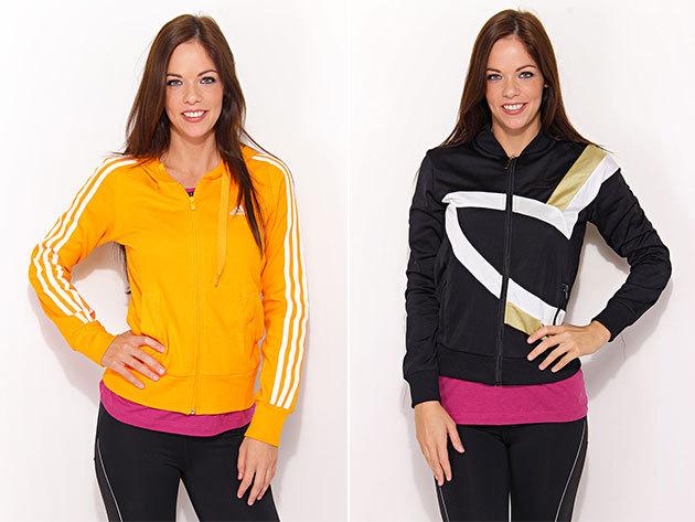 Adidas női pulóverek és hosszú ujjú ruhák változatos fazonban, 34-42 méretben, szabadidős tevékenységekhez