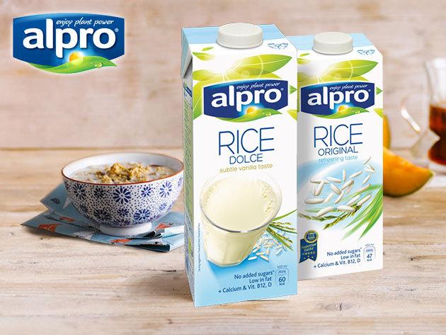 Alpro Rizsital, Kókuszital és Mandulaital 1 literes kiszerelésben - az egészséges, ízletes müzlikhez és frissítőkhöz