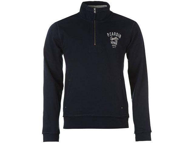 Pierre Cardin Fleece Sweater Mens, férfi felül zippes felső  (554196) - navy - S