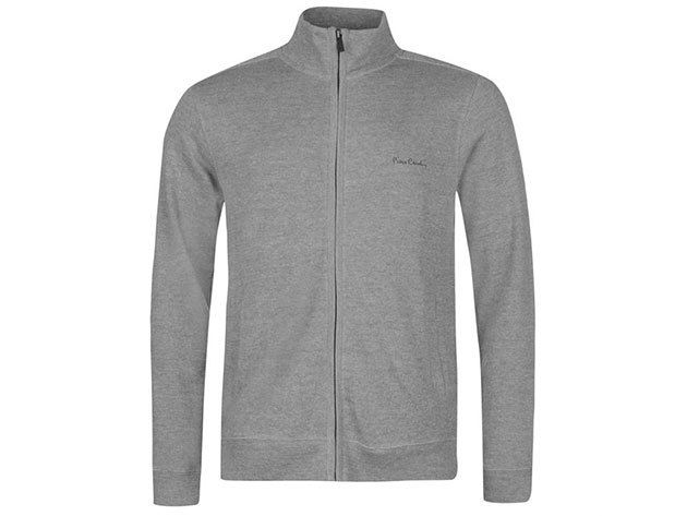 Pierre Cardin Full Zipp Cardigan Mens, férfi végig zippes felső  (559315) - grey marl - S