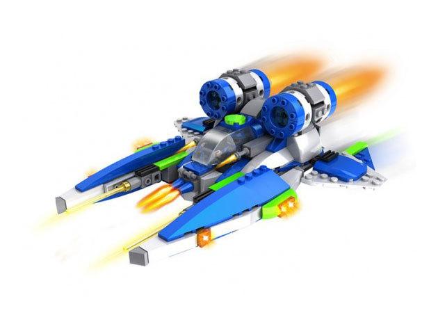 Űrrepülő építőkocka - fejlesztő és szórakoztató játék gyermekeknek / 304 db-os készlet
