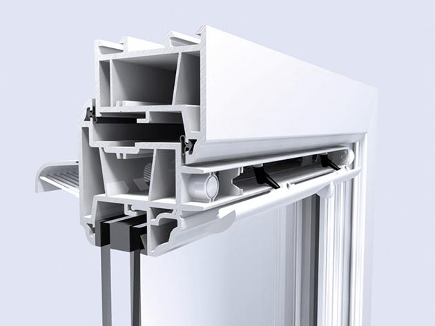 rimvent Select Xtra S13 +  SW380 műanyag/alu lapos rovar rács manuális légbevezető szett (barna)