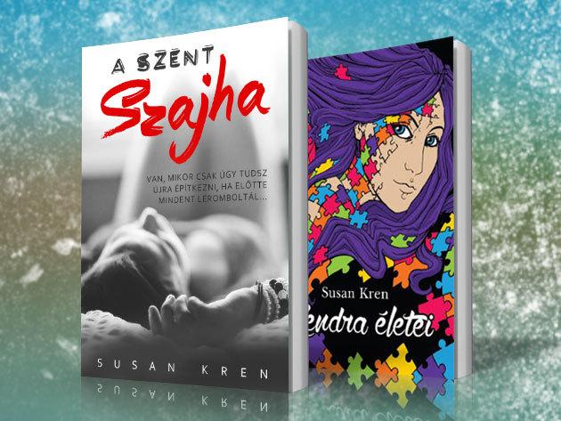 Susan Kren legújabb könyvei - könnyű olvasmányok a téli estékre, nőknek és férfiaknak egyaránt! Kendra életei és A Szent Szajha! Kóstolj bele egy új világba!