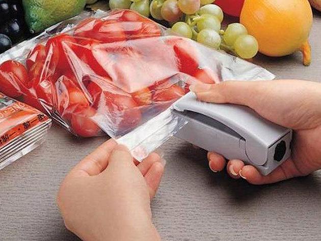 Kézi fólia hegesztő / elektromos készülék - csomagold az ételeket légmentesen lezárt zacskókba!