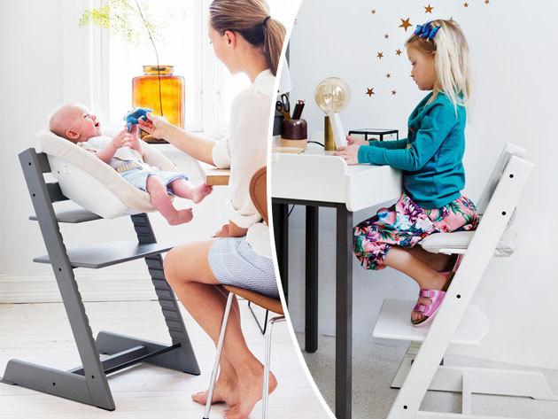 Stokke Tripp Trapp® etetőszék, ergonómikus gyermekszék - fából, rugalmasan állítható mérettel, választható színben