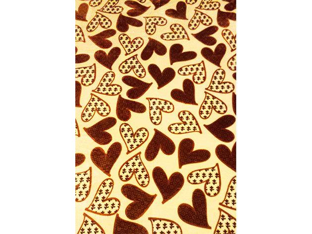 SMARTEX Prémium Corall Fleece Polár takaró Brown Heart (11) 150x200
