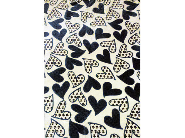 SMARTEX Prémium Corall Fleece Polár takaró Black Heart (10) 200x230cm