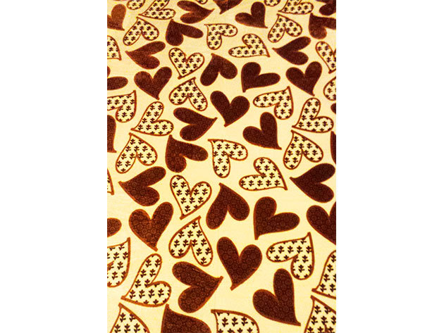 SMARTEX Prémium Corall Fleece Polár takaró Brown Heart (11) 200x230cm