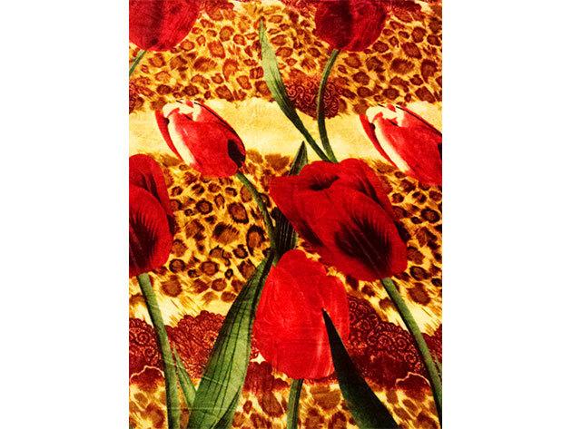 SMARTEX Prémium Corall Fleece Polár takaró Tulipán (9) 200x230cm