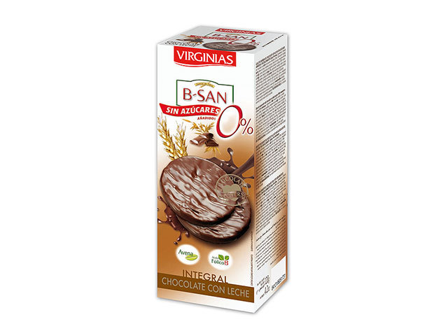 Virginias csokis keksz / Cukormentes - tejcsokis  / 120g