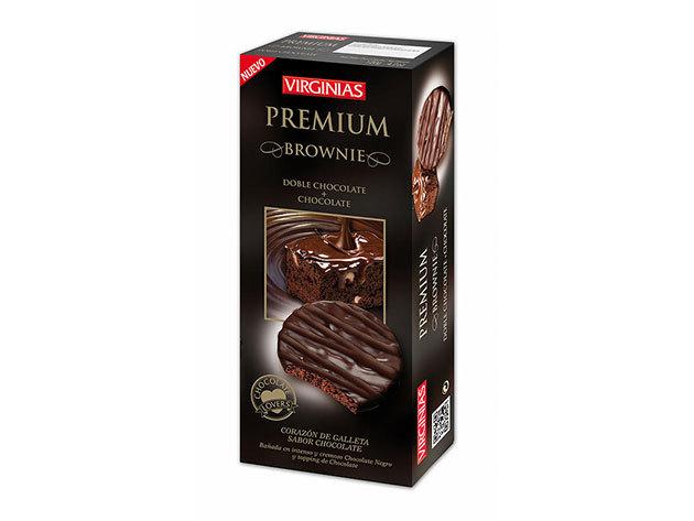 Virginias csokis keksz - triplacsokis Brownie-s / 120g