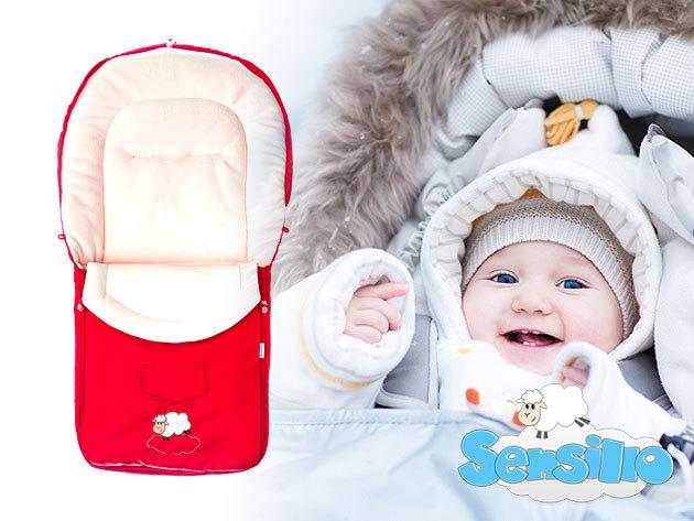Sensillo bundazsák babáknak, kisgyerekeknek (95x40cm) valódi gyapjú béléssel változatos színekben! Kiváló társ a hidegben...