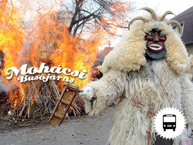 Mohácsi Busójárás UNESCO szellemi kulturális örökség és a Makovecz emlékek - buszos utazás februárban / fő