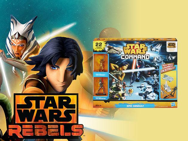 Star Wars Command - 22 darabos játékfigura készlet a sorozat rajongóinak (4 éves kortól)