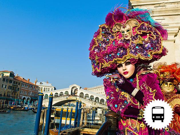 Karnevál Velencében non-stop buszos utazás a lagúnák városába februárban /fő