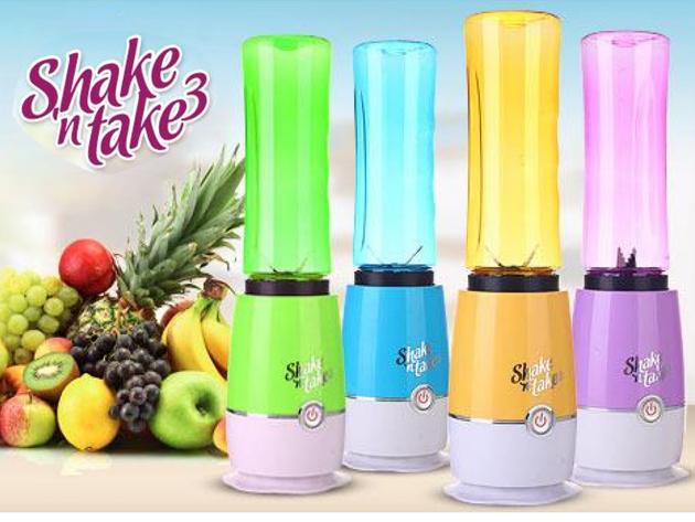 Multifunkciós turmixgép és juice készítő Shake'n Take3, levehető sportpalackkal - az ízletes és egészséges turmixokhoz