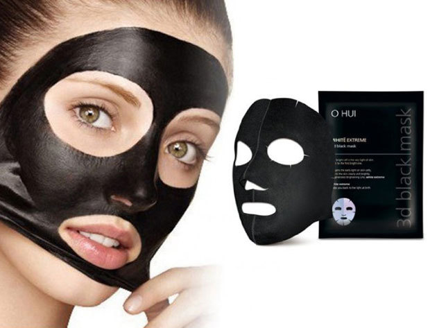 Koreai fekete maszk a pórusok megtisztítására - 10 db x 6 g / az ápolt, miteszer- és pattanásmentes bőrért
