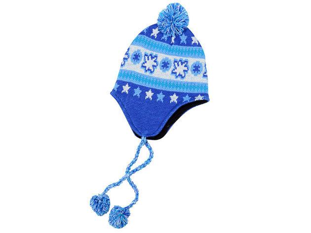 Téli sapka - kék