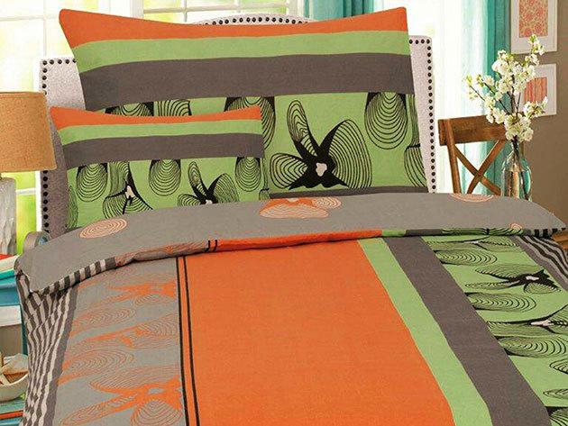 2 db SMARTEX 3 részes Flanell Orange ágynemű garnitúra + hozzá tartozó Jersey/gumis lepedő 200x230 cm-es méretben