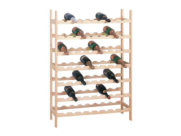 Bortartó állvány fából - férőhely 56 palack számára