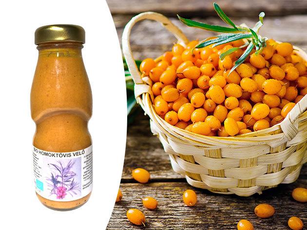 BIO Homoktövis velő, tanúsítvánnyal (200 ml) - 100% vitaminbomba, táplálék-kiegészítő, immunrendszer erősítő