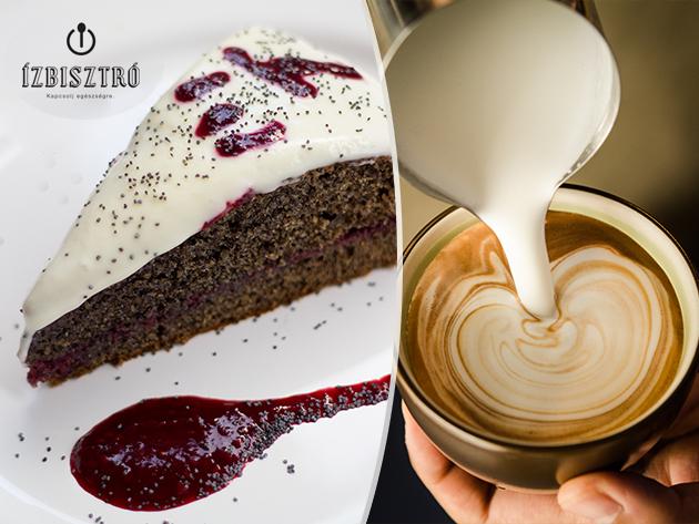 Tortaszelet választható ízben kávéval vagy shake-kel 2 fő részére az I. kerületi Ízbisztróban / finomliszt-, cukor-, ízfokozóktól mentes desszertek az EASE Therapy-tól