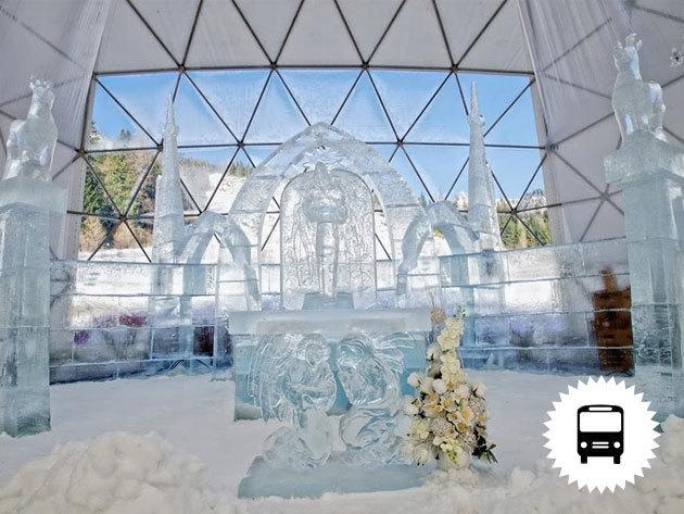 JÉGKATEDRÁLIS A TÁTRÁBAN! Buszos kirándulás január 15, 22-én, február 12-én és március 5-én/ fő - Nyolc jégszobrász, tizenhárom nap, negyvenhét tonna jég...