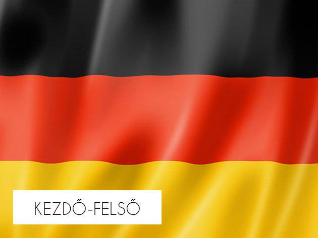 Online német nyelvtanfolyam kezdőtől a felsőfokig