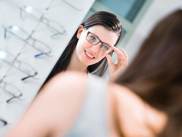 Komplett szemüvegkészítés szemvizsgálattal, 1,5-ös törésmutatójú Essilor lencsével, 150 választható kerettel