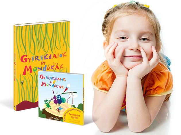 Gyerekdalok és Mondókák ajándékcsomag kisgyermekes családoknak: könyv + CD igényes képi világgal és finom humorral